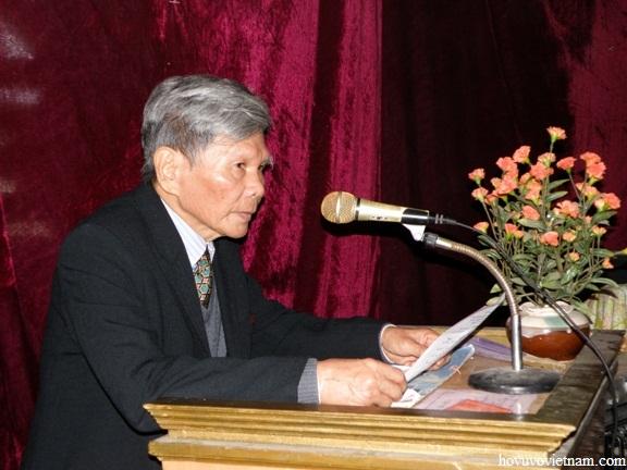 đồng dòng họ Vũ - Võ Việt Nam phát biểu tại buổi lễ