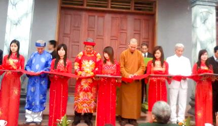 Lễ cắt băng Khánh thành Trung tâm văn hóa cộng đồng